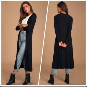 'Forever 21 Long Duster Cardigan Sweater Stretchy Ribbed Loungewear Plus Size'
